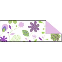 Fotokartón 300g CountryFlowers A4 fialovo zelený