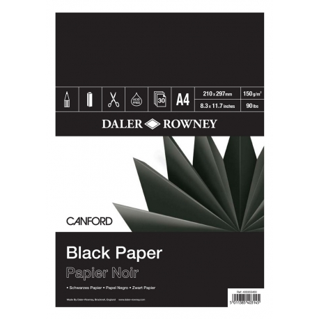 Skicár Black Paper - Canford 150g/m