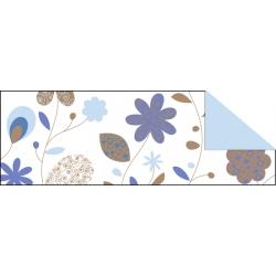 Fotokartón 300g CountryFlowers A4 modro hnedý