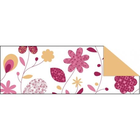 Fotokartón 300g CountryFlowers A4 oranžovo ružový