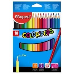Ceruzky MAPED trojhranné 18 farebné