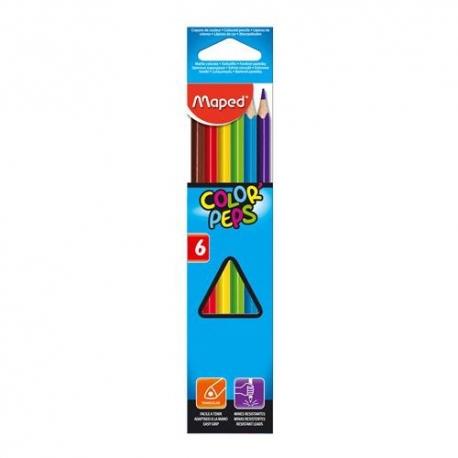Ceruzky MAPED trojhranné 6 farebné