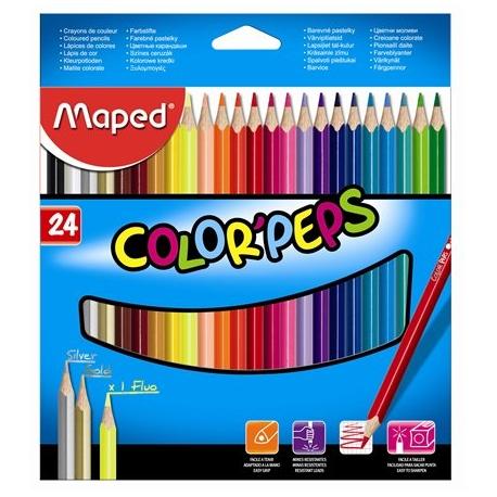 Ceruzky MAPED trojhranné 24 farebné