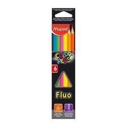 Ceruzky MAPED trojhranné 6 Fluorescenčné