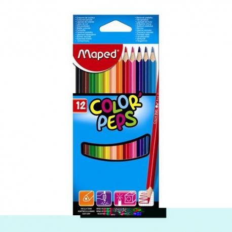 Ceruzky MAPED trojhranné 12 farebné