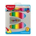 Ceruzky MAPED trojhranné 12 farebné, kovová krab.