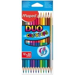 Ceruzky MAPED/12 3HR farebná súprava DUO