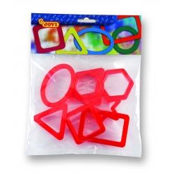 Vykrajovátka - geometrické tvary 8ks, záves