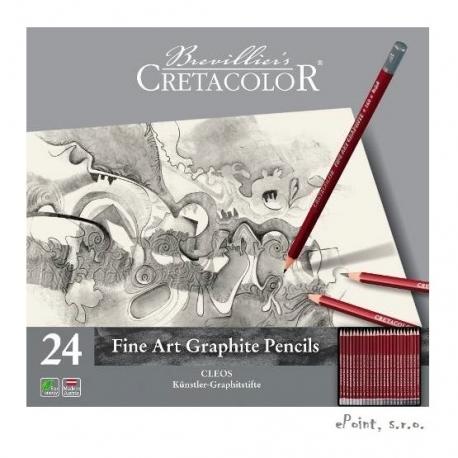 Cleo sada grafických ceruziek 24ks