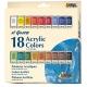 Sada akrylových farieb ELGRECO 18x12ml