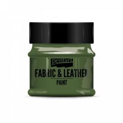 Farba na textil a kožu 50ml glitr. zelená