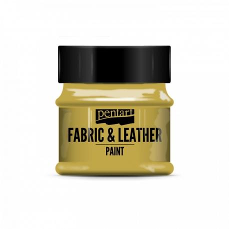 Farba na textil a kožu 50ml glitr. zlatá