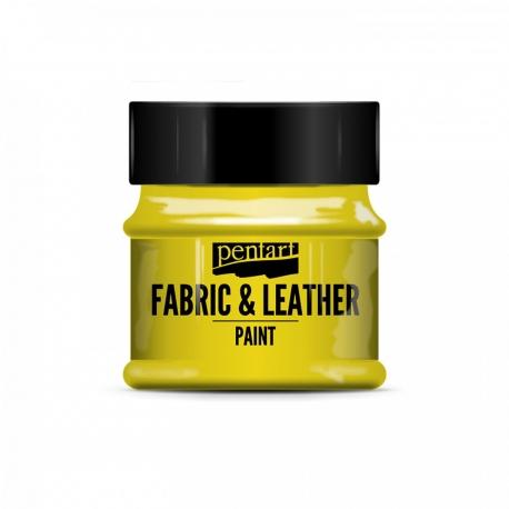 Farba na textil a kožu 50ml žltá