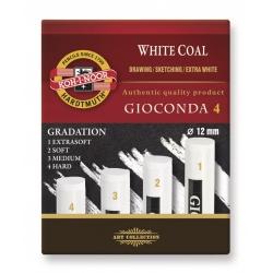 Súprava umelých uhlov 8692/4 bielych extra guľatých