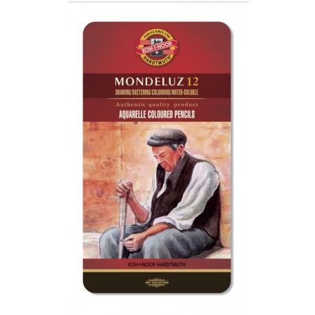 Umelecké akvarelové ceruzky MONDELUZ - 12ks plech