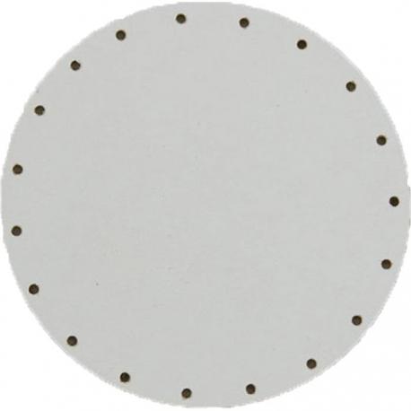 Sololak biely pr. 12cm s otvormi