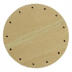 Preglejka 4mm, kruh pr. 9cm s otvormi