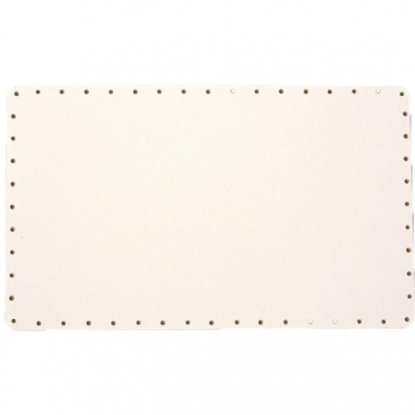Sololak biely obdĺžnik 26x18cm s otvormi