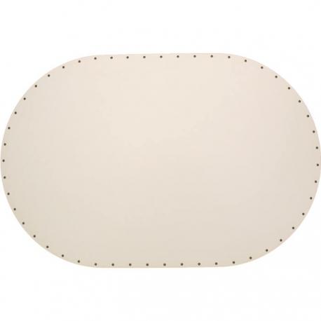 Sololak biely, ovál 44x29cm s otvormi
