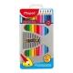 Ceruzky MAPED trojhranné 18 farebné, kovová krab.