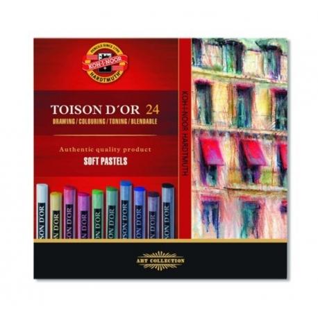 Prašné umelecké kriedy TOISON D'OR, 24 ks