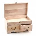 Drevená komoda vyklápacia s dvomi šuflíkmi
