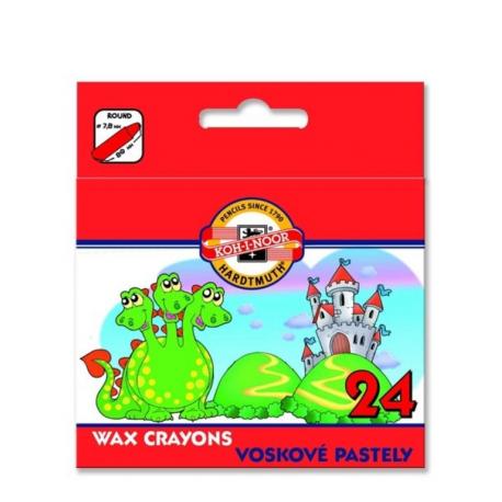 Voskovky farebné 24ks 8234