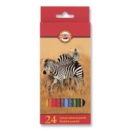 Ceruzky 24 farebné 3554/24 ZVIERA