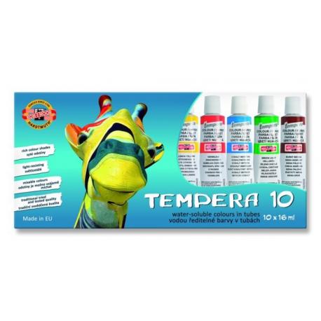 Temperové farby 10 farebné 162548
