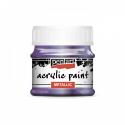 Akrylová farba 50ml, metalická fialová