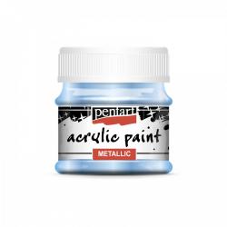 Akrylová farba 50ml, metalická svetlomodrá