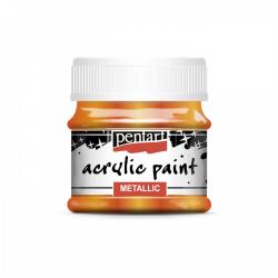 Akrylová farba 50ml, metalická pomaranč