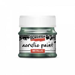 Akrylová farba 50ml, metalická brečtanová zelená