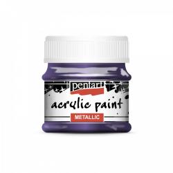 Akrylová farba 50ml, metalická strieb. fialová