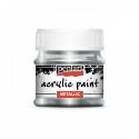Akrylová farba 50ml, metalická strieborný dotzk