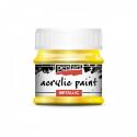 Akrylová farba 50ml, metalická žltá