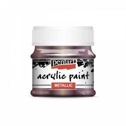 Akrylová farba 50ml, metalická baklažánová