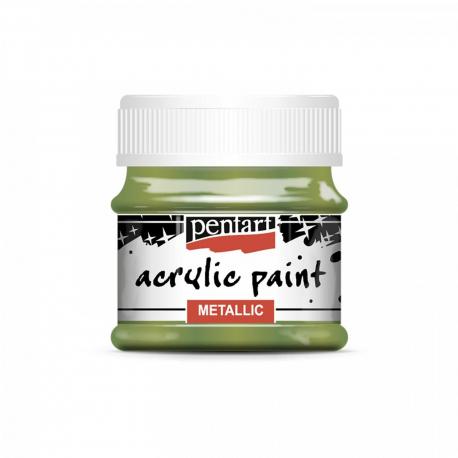 Akrylová farba 50ml, metalická zelená