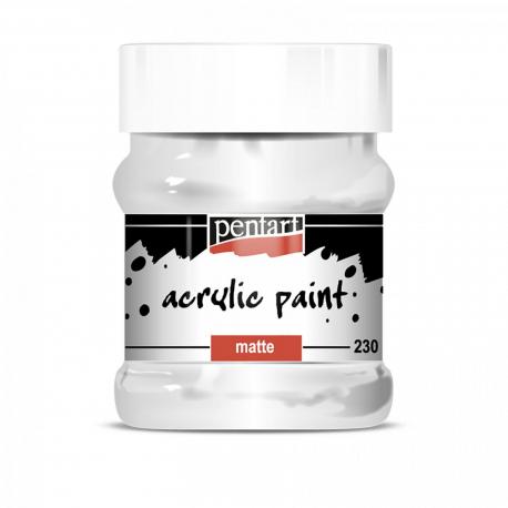 Akrylová farba matná 230ml, biela