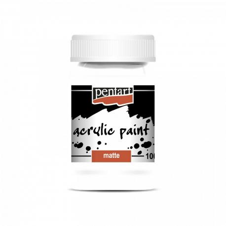 Akrylová farba matná 100ml, biela