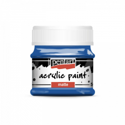 Akrylová farba matná 50ml, modrá