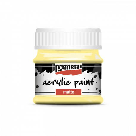 Akrylová farba matná 50ml, vanilka
