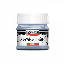 Akrylová farba matná 50ml, vintage modrá
