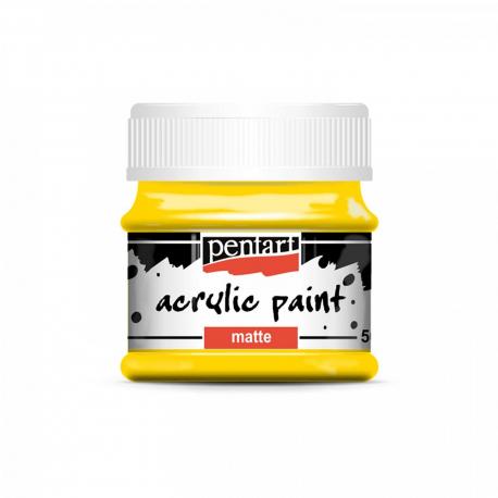 Akrylová farba matná 50ml, žltá