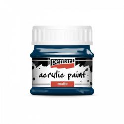 Akrylová farba matná 50ml, indigová modrá