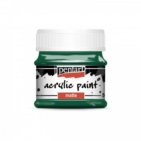 Akrylová farba matná 50ml, jedľová zelená