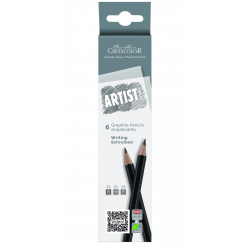 Sada grafitových ceruziek 6ks B,HB,F