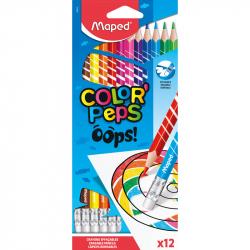 Ceruzky MAPED/12 3HR farebná súprava Oops