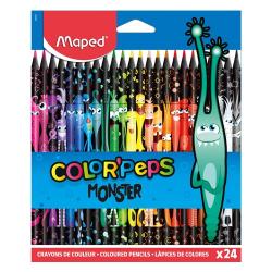 Ceruzky MAPED/24 3HR farebná súprava MONSTER
