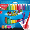 Ceruzky voskové MAPED 1/18 fareb. súpr.